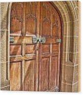 University Of Sydney Doors Wood Print