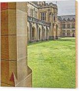 University Of Sydney Quadrangle V2 Wood Print