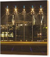 University Of Tampa At Night Wood Print