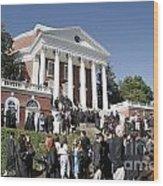 University Of Virginia Rotunda Graduation Wood Print