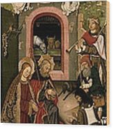 Unknown, Crib Altarpiece, 15th Century Wood Print by Everett