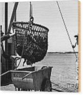 Unloading Fish From Monterey's Wharf Two Circa 1950  Wood Print