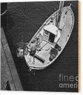 Unloading Fish At Wharf Two Monterey  Circa 1950  Wood Print