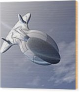 Unmanned Spaceship Wood Print