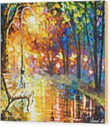 Unresolved Feelings - Palette Knife Oil Painting On Canvas By Leonid Afremov Wood Print