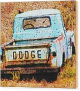 Unsuccessful Dodge Wood Print