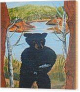 Untitled Bear Wood Print