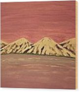 Untitled Mountains Wood Print