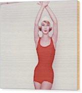 Vogue January 1st, 1958 Wood Print