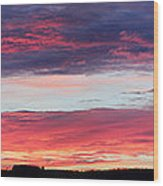 Untitled Sunset Wood Print