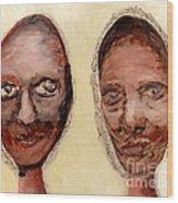 Untitled Two Wood Print by Anna Skaradzinska