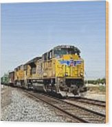 Up 8587 Southbound From Traver Wood Print