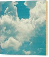 The Kiss Of The Clouds Wood Print