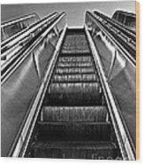 Up Escalator Wood Print