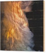 Up In Flames Wood Print