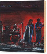 Up On The Stage Wood Print by Alys Caviness-Gober