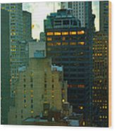 Up - Skyscrapers Of New York Wood Print