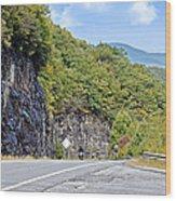 Uphill Downhill Wood Print
