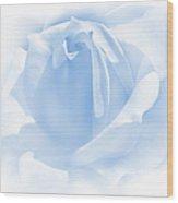 Upon A Cloud Blue Rose Flower Wood Print