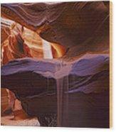 Upper Antelope Canyon Beam Wood Print