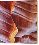 Upper Antelope Canyon Wood Print by Robert Jensen