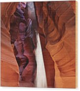 Upper Antelope Canyon Sunbeam Wood Print