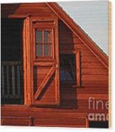 Upper Barn Door-3704 Wood Print