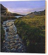 Upper Blue Sunrise Wood Print