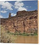 Upper Colorado River View Wood Print