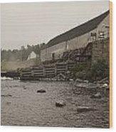 Upper Dam Gatehouse II Wood Print
