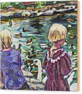 Upper Duck Pond Wood Print