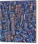 Upper East Side Skyline Wood Print