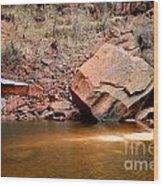 Upper Emerald Pools At Zion National Park Wood Print
