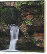 Upper Falls At Hocking Hills State Park Wood Print
