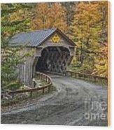 Upper Falls Covered Bridge Wood Print