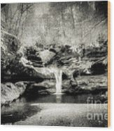 Upper Falls Old Mans Cave In Infrared Wood Print