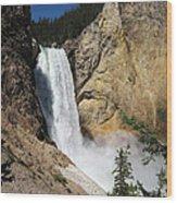 Upper Falls Yellowstone National Park Wood Print