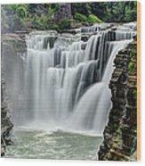Upper Letchworth Falls Wood Print