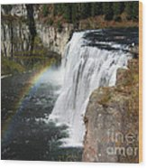 Upper Mesa Falls Idaho Wood Print