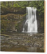 Upper North Silver Falls 1 Wood Print