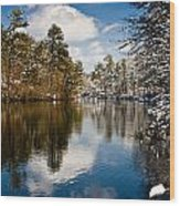 Upper Pond Wood Print