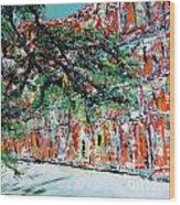 Upper Pontalba Building Wood Print