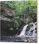Upper Purgatory Falls - Wide Wood Print