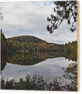 Upper Saranac Bay In Fall Wood Print