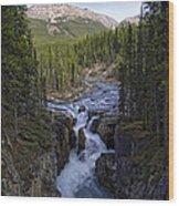 Upper Sunwapta Falls - Canadian Rockies Wood Print