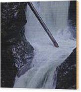 Upper Twin Falls Close Wood Print