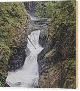 Upper Twin Falls Wood Print