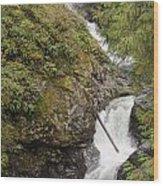Upper Twin Falls Steps Wood Print