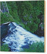 Upper View Of Narada Falls Wood Print