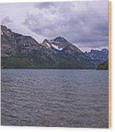 Upper Waterton Lake Wood Print